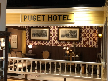 Replica of the Puget Hotel lobby