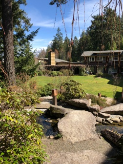 A nice day for a stroll around the grounds of Alderbrook Resort