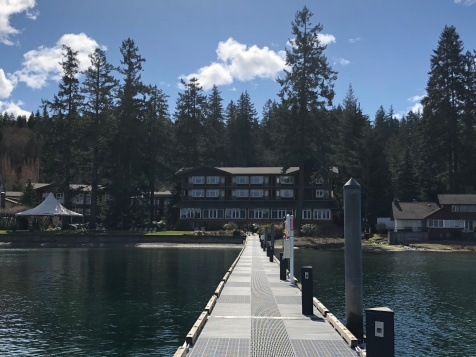 Looking back at the resort from the dock