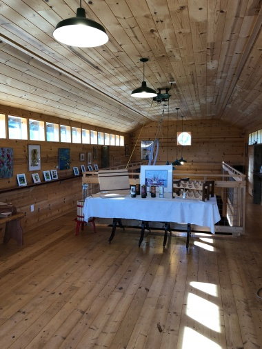 Upstairs gallery at Marrowstone Vineyards