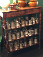 Cool antique pewter mugs at Bubble n Squeak
