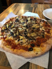 Delicious pizza from Waterfront Pizza