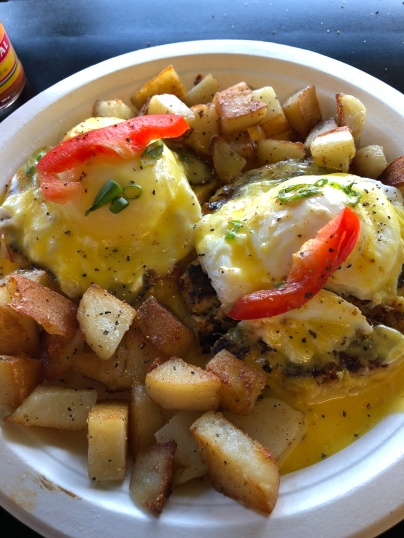 A most delicious breakfast dish: Crab Eggs Benedict. (Union Country Store)