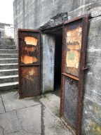 Doors in lower section of bunker.