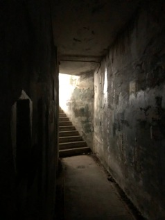 Stairs out of the bunker (Fort Worden)