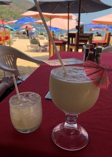 Relaxing on the beach in Yelapa...