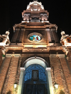 The beautiful front of Our Lady of Guadalupe Parish