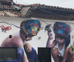 Many wonderfully done murals all around the city
