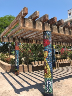 Beautiful mosaics in El Parque de los Azueljos