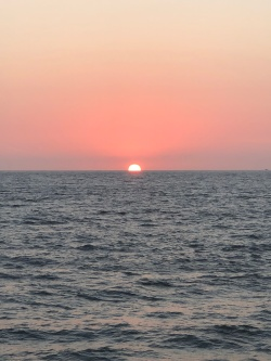 I never saw the green flash, but oh well!