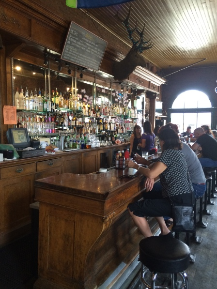 Beautiful old fashioned saloon at The Brick