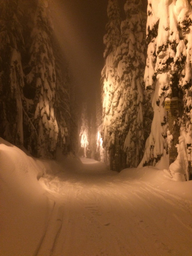 Night skiing at Snoqualmie Pass