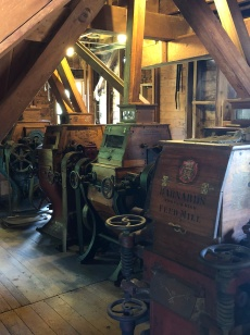 Beautifully preserved mill machinery
