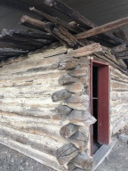 Ben Snipes' cabin - directly across the street from the museum