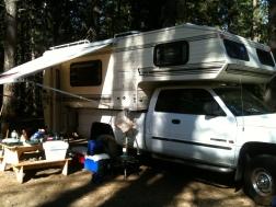 Kickin' it camper-style!