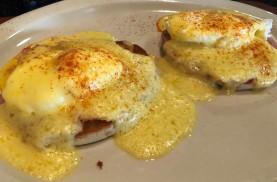 Delicious Eggs Benedict at Bon Vino's
