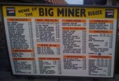 A classic burger menu - classic!