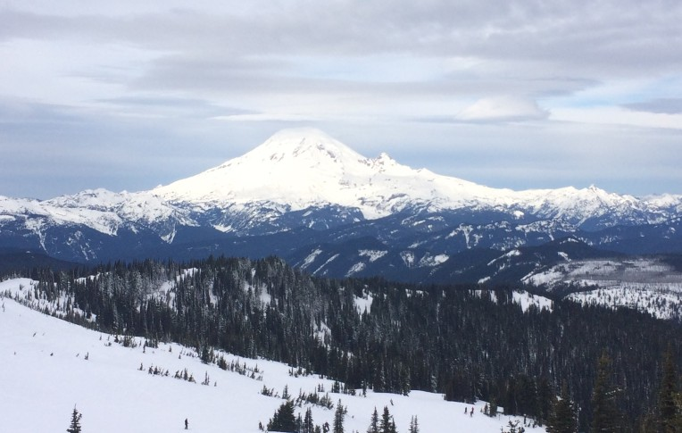 The always majestic Mt. Rainier as seen from White Pass Ski Area