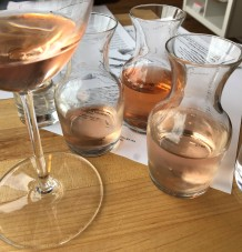Great wine pairings on the menu - I opted for the Rose flight