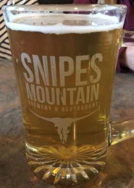 Delicious beer at Snipes!