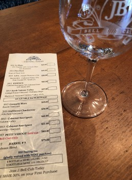 Tasting menu at J. Bell