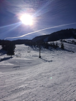 Beautiful skies make for beautiful skiing...