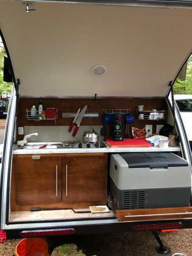 My friends Beth and CJ recently got a sweet new trailer. So perfect for NW camping adventures!