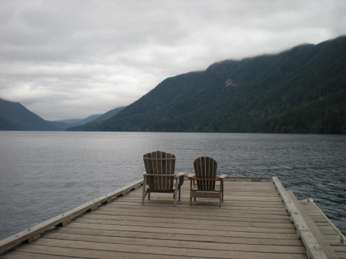 Enjoying the view at Lake Crescent Lodge