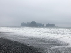 Beautiful, moody views from Rialto Beach