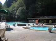 The relaxing pools at Sol Duc Hot Springs