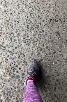 Foot to Viaduct pavement...