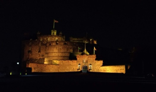 Stunning Edinburgh Castle by night