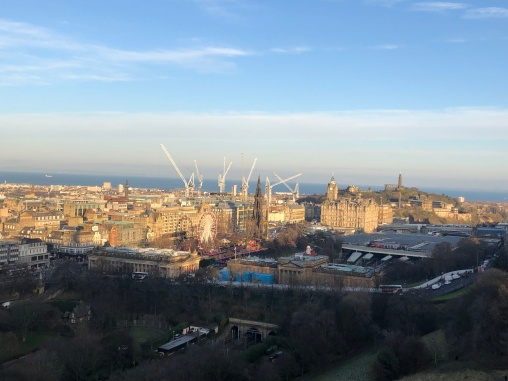 View of the New Town and out onto the Firth of Forth from the castle
