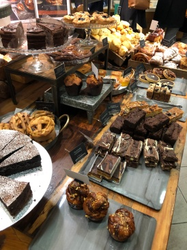 Just a small portion of the delicious Fortnum and Mason baked goods