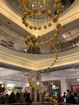 Beautiful holiday displays at Fortnum and Mason