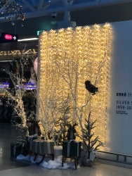 The Reykjavik airport was decked out for the holidays