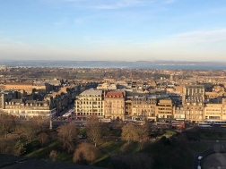 View of the New Town and Princes Street Gardens as seen from the castle