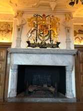 Giant fireplace in the Royal Palace