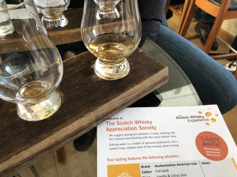 The bonus round of whisky tasting after the main tour!