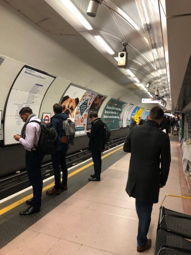 Hangin' out on the Tube platform