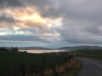 A beautiful morning drive on Orkney