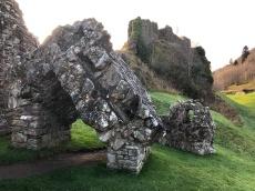 Fallen castle gates