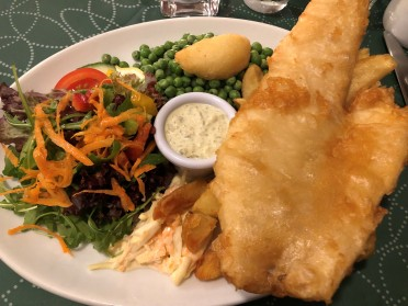 Mmmmm... Fresh haddock and chips!