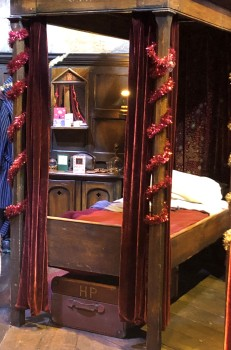 The Gryffindor boys dorm - Harry Potter's spot!