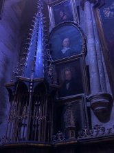 Moody decor of Dumbledore's study...
