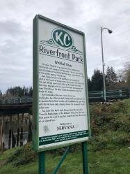 The tiny Riverfront Park, AKA: Kurt Cobain Memorial Park
