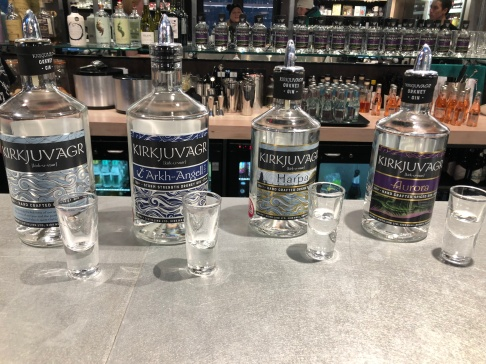 Delicious gin tasting at the Orkney Distillery. I took home the Aurora!