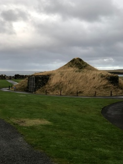 A replica of House 7, the most intact home at Skara Brae