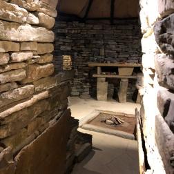 Interior of the replica home