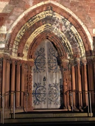 Beautiful doors at the cathedral